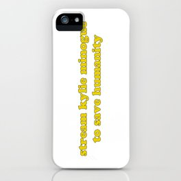 KYLIE FOR HUMANITY iPhone Case