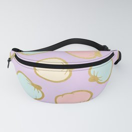 Pastel Pumpkin Pattern with Gold Fanny Pack