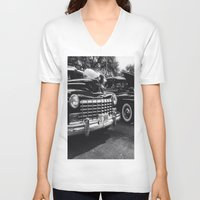 old school V-neck T-shirts featuring Old School by Xneon