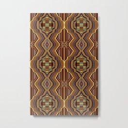 Abstrato laranja Metal Print