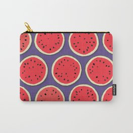 watermelon polka purple Carry-All Pouch