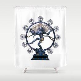 Shiva Nataraj, Lord of Dance (an actual factual fractal) Shower Curtain