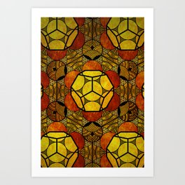 Sacred Geometry for your daily life -  Platonic Solids - ETHER COLOR Art Print