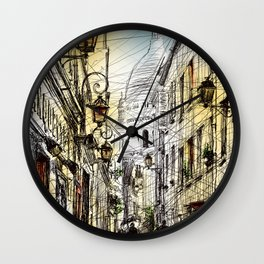 Montmartre XI in colour Wall Clock