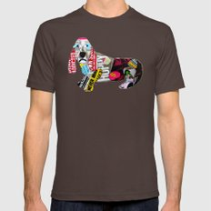 dachshund graffiti X-LARGE Brown Mens Fitted Tee