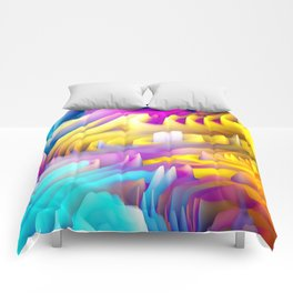 Abstract Waves Comforters