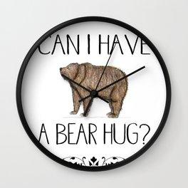 Bear Hug Wall Clock