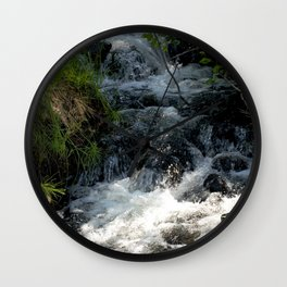 Shady Glen above Haviland Lake Wall Clock