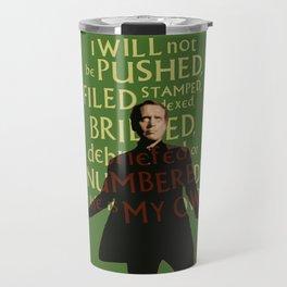 The Prisoner - I Will Not be Pushed Travel Mug