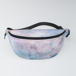 Spring Riff, Abstract, Blue, Pink Fanny Pack