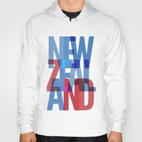 new zealand Hoodies featuring New Zealand by Feb Studios