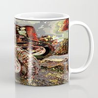 truck Mugs featuring mud truck by Vector Art