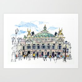 Palais Garnier, Paris Art Print