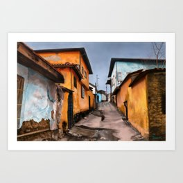 Water-Stained Alley Art Print