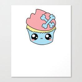 Cupcake Skull Canvas Print