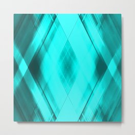 Hot triangular strokes of intersecting sharp lines with heavenly triangles and stripes. Metal Print
