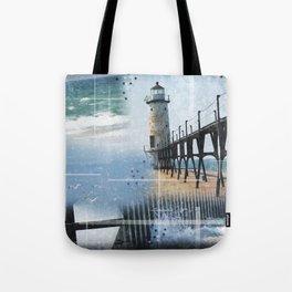 Manistee Lighthouse MI Tote Bag