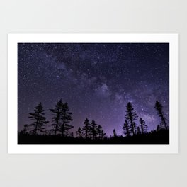 Star chasing in the Adirondack Mountains. Art Print