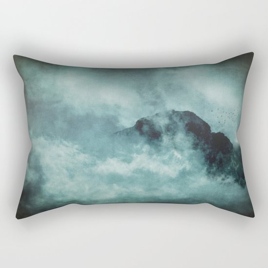 On the top of the world- Mountains Dust Rectangular Pillow