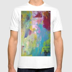 The jungle Mens Fitted Tee MEDIUM White