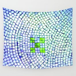 artisan 22.06.16 in lime & shades of blue Wall Tapestry