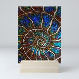 Ammonite E Mini Art Print