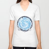 cities V-neck T-shirts featuring Paronamic NZ by MARIA BOZINA - PRINT