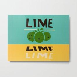 Lime Lime Lime Metal Print
