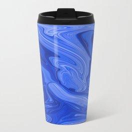 Abstract Blue Liquids Travel Mug