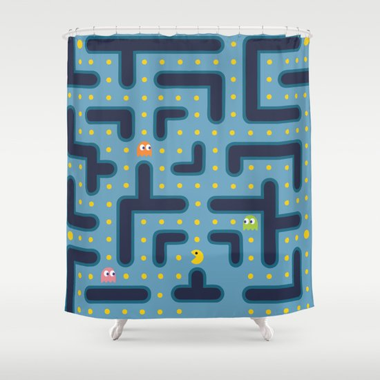 RETRO GAME Shower Curtain By Vickn Society6