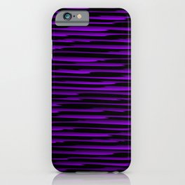 Horizontal dark curved stripes with imitation of the bark of a violet tree trunk. iPhone Case