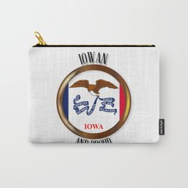 Iowa Proud Flag Button Carry-All Pouch