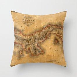 Map of Panama 1864 Throw Pillow