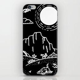 Desert Scene Illustration Invert iPhone Skin