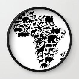 Animals of Africa Wall Clock