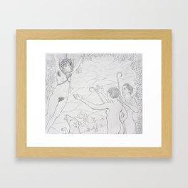 The Hanging of the Wolf In Sheep's Clothing Framed Art Print