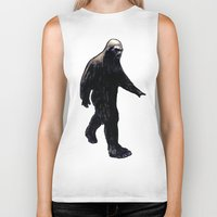 bigfoot Biker Tanks featuring Bigfoot by Zombie Rust