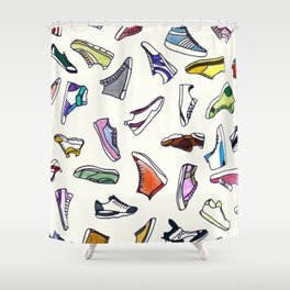 sneakers addiction Shower Curtain