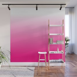 Hot Pink Ombre Wall Mural