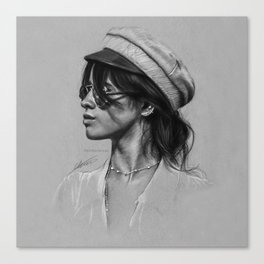 Camila Gray Sketch Canvas Print