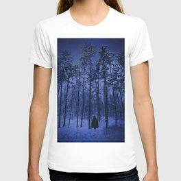 In The Cold Winter Forest At Night T-shirt