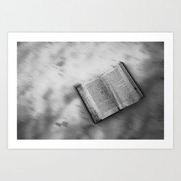 Black and white Book's little world Art Print
