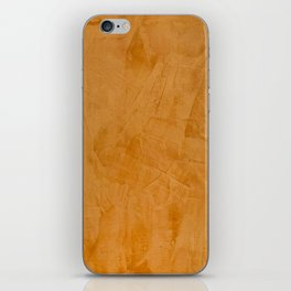 Dante Orange Stucco - Luxury - Rustic - Faux Finishes - Venetian Plaster iPhone Skin