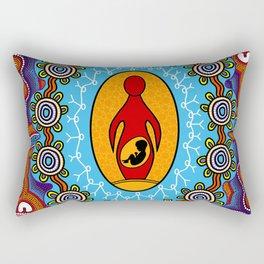 Authentic Aboriginal Art -  Rectangular Pillow