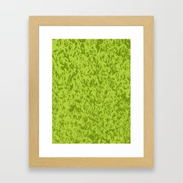 Green moss Framed Art Print