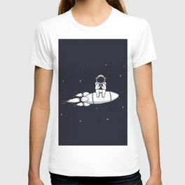 Astronaut Play with Mobile Phone T-shirt