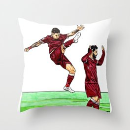 Bobby and Mo Throw Pillow