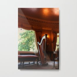 Old Harp in a Mansion! Metal Print