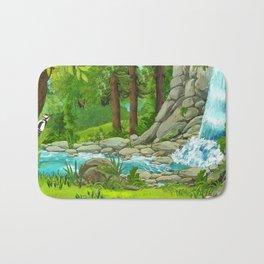 Waterfall and Nature Bath Mat