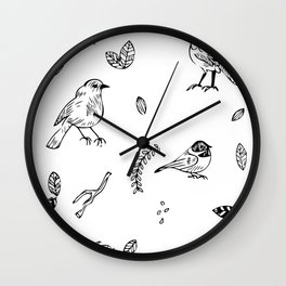 Birds and junk Wall Clock